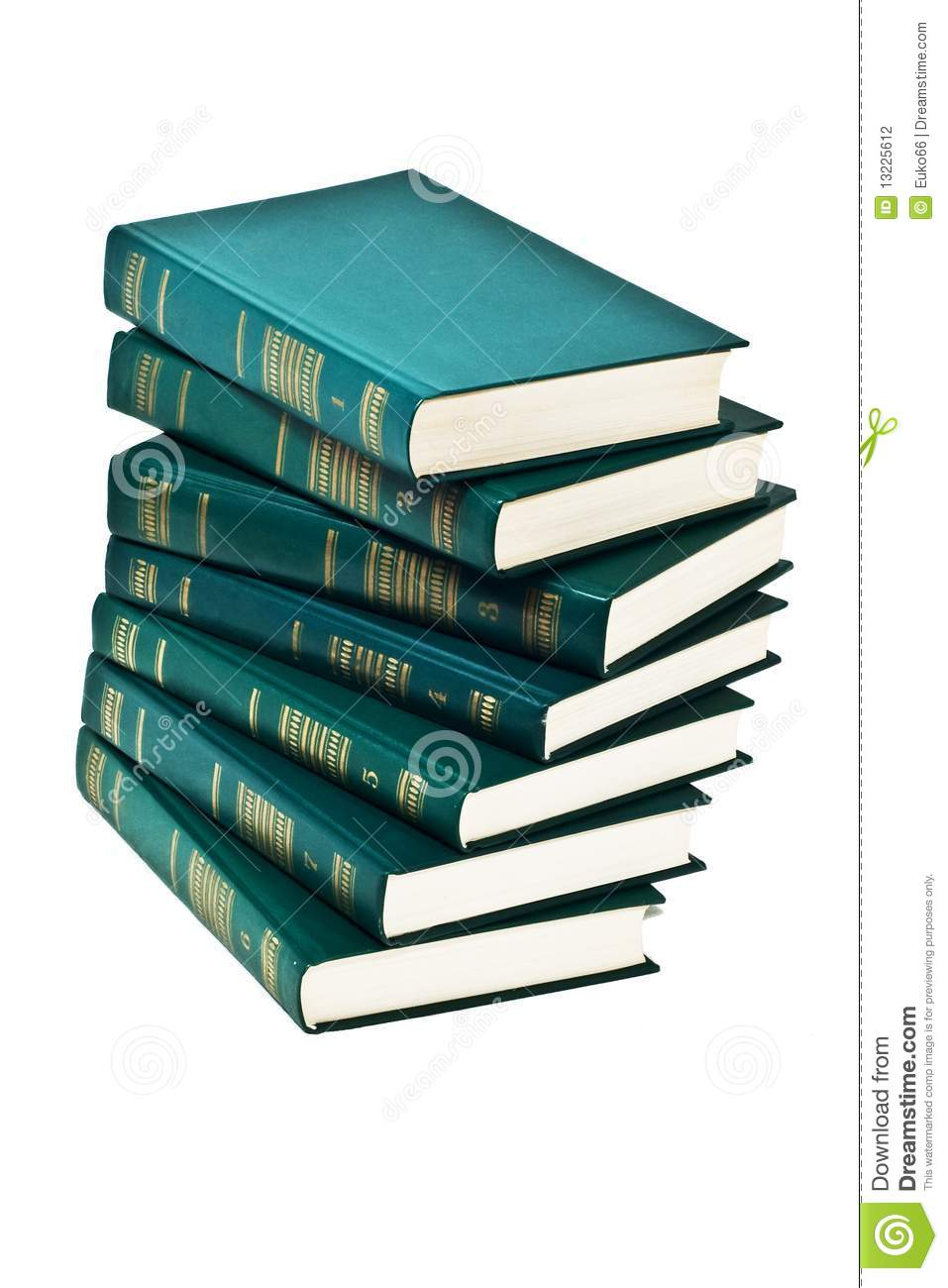royalty free stock photo download heap of books of green color - Books About The Color Green