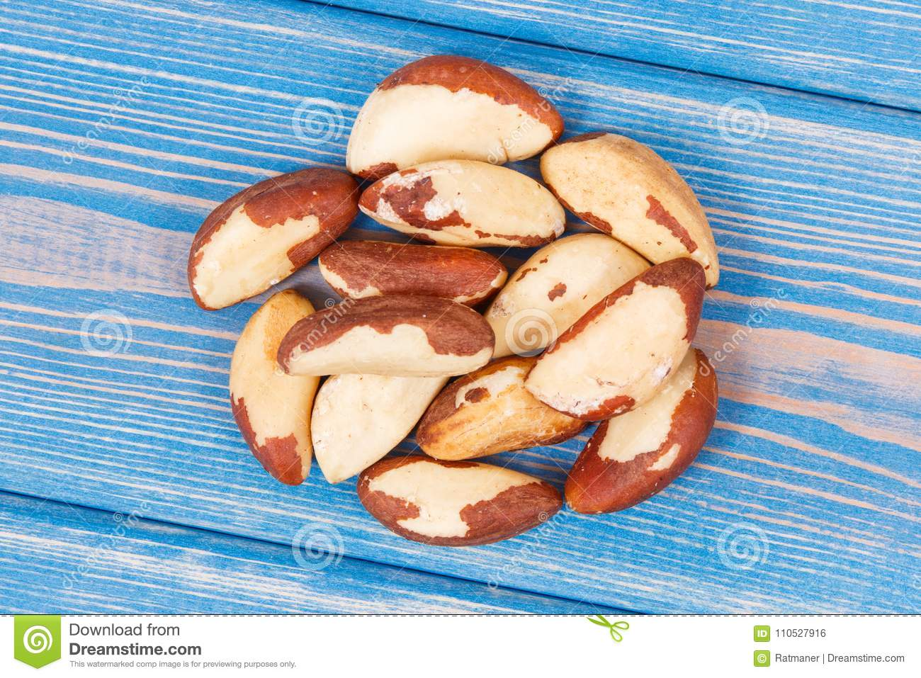 Heap of brazil nuts as source of natural minerals and vitamin