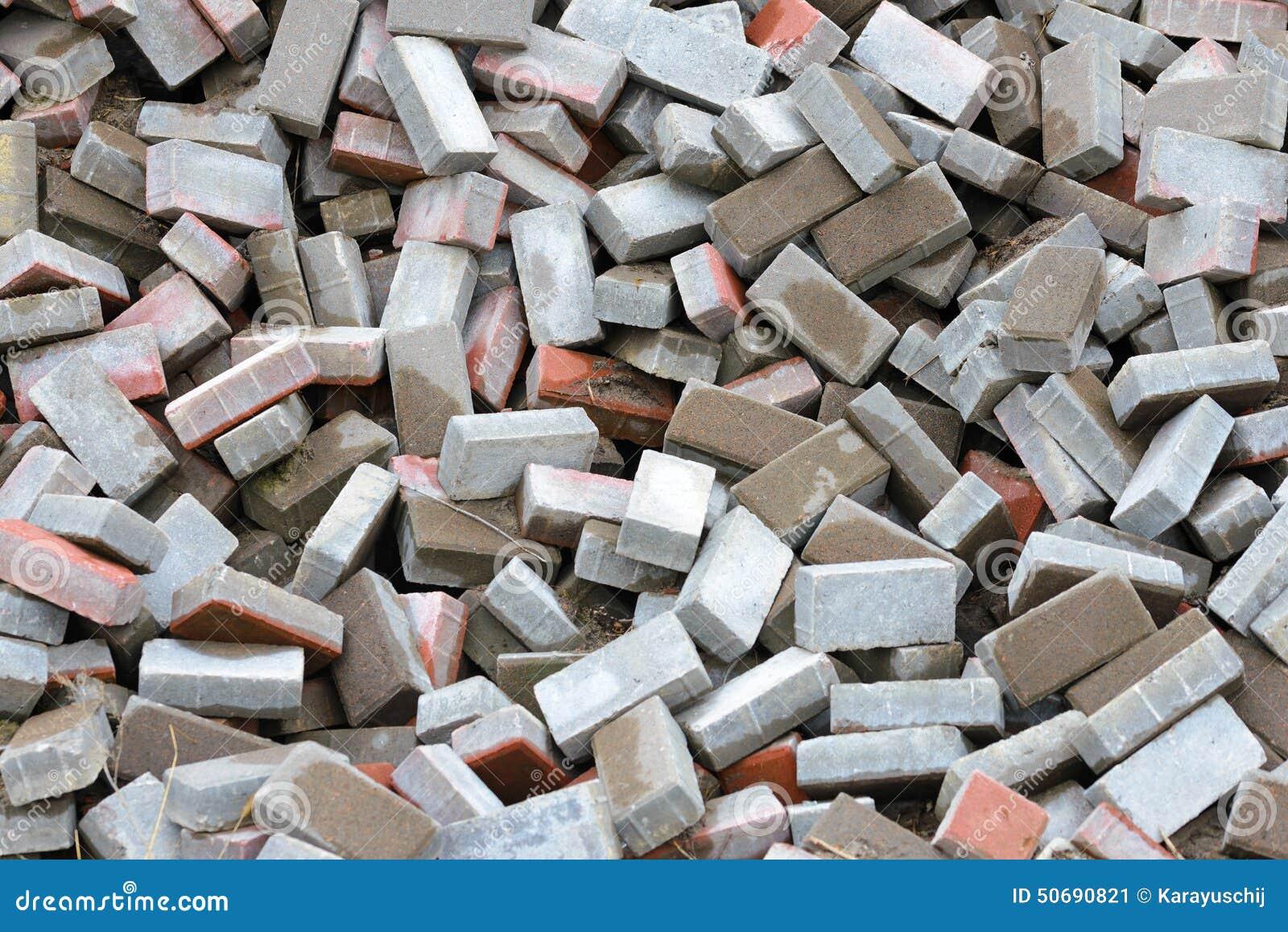 Calcium Silicate Brick : Heap of bricks stock photo image