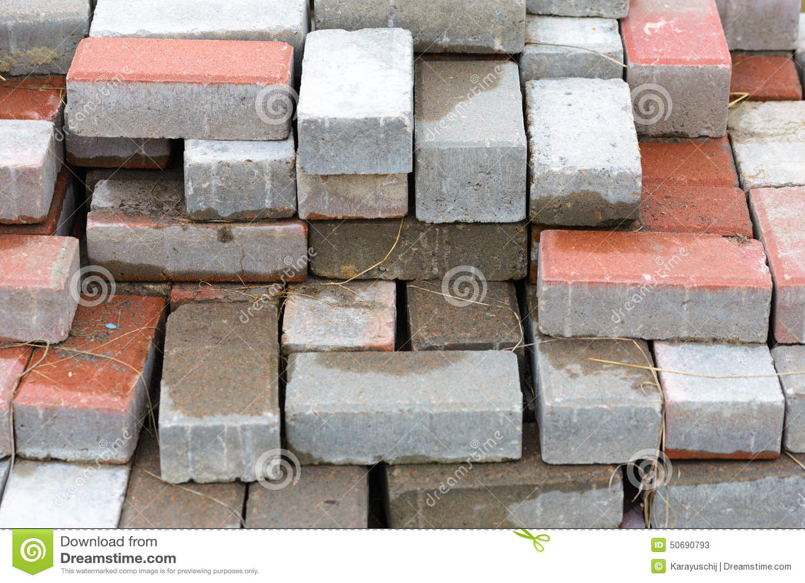 Calcium Silicate Brick Chipped : Heap of bricks stock photo image