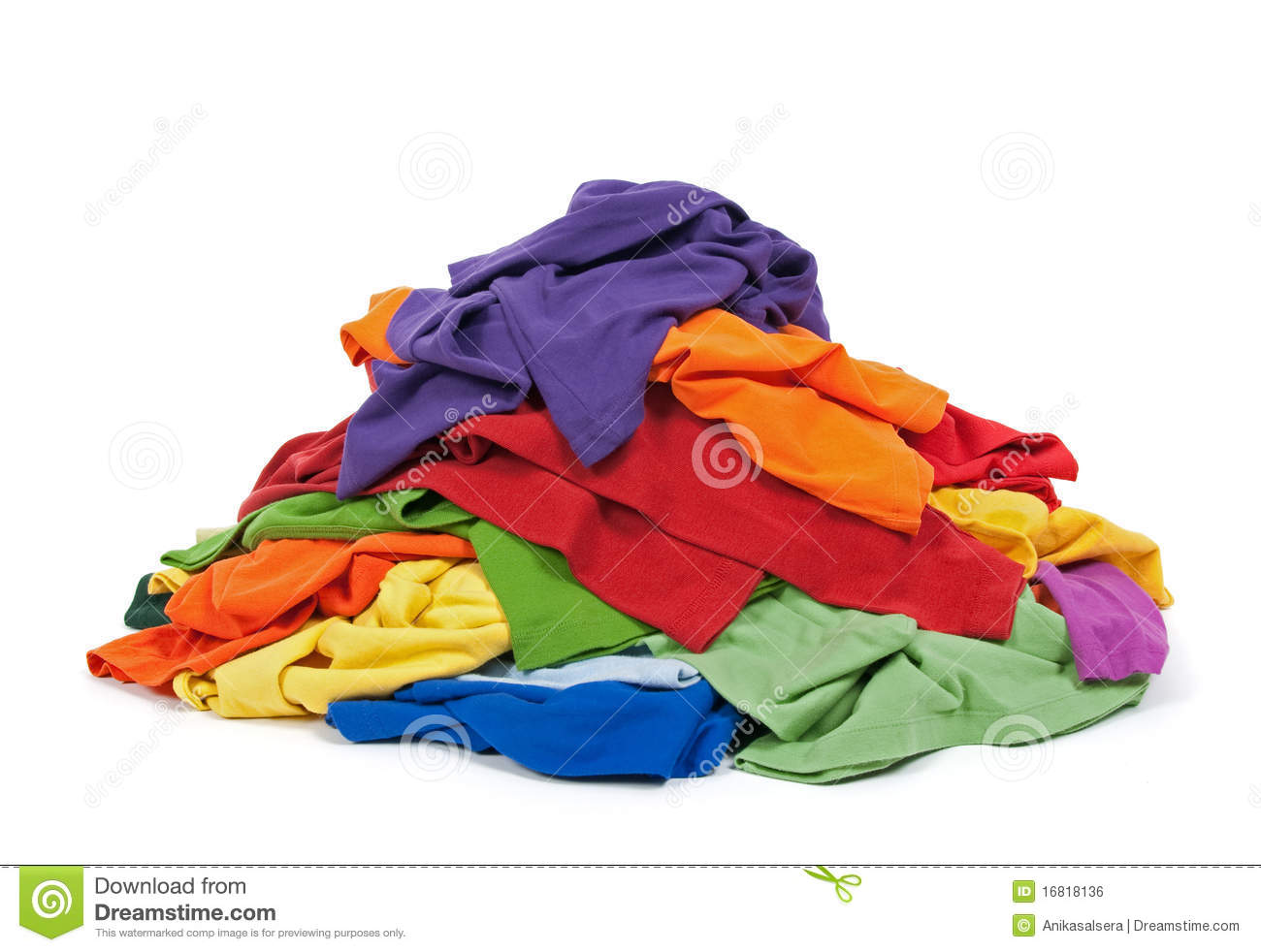 Heap Of Colorful Clothes Royalty Free Stock Image Image
