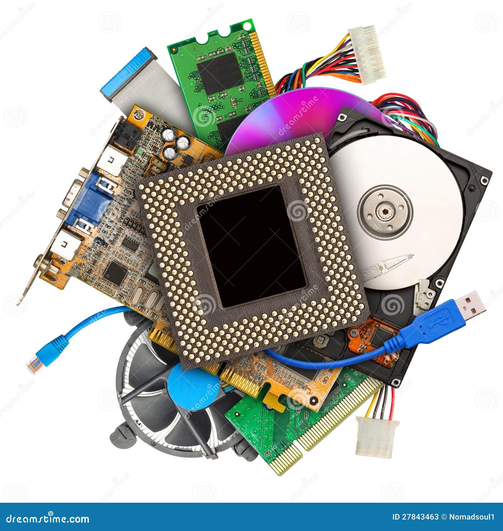 Heap of computer hardware  Hardware
