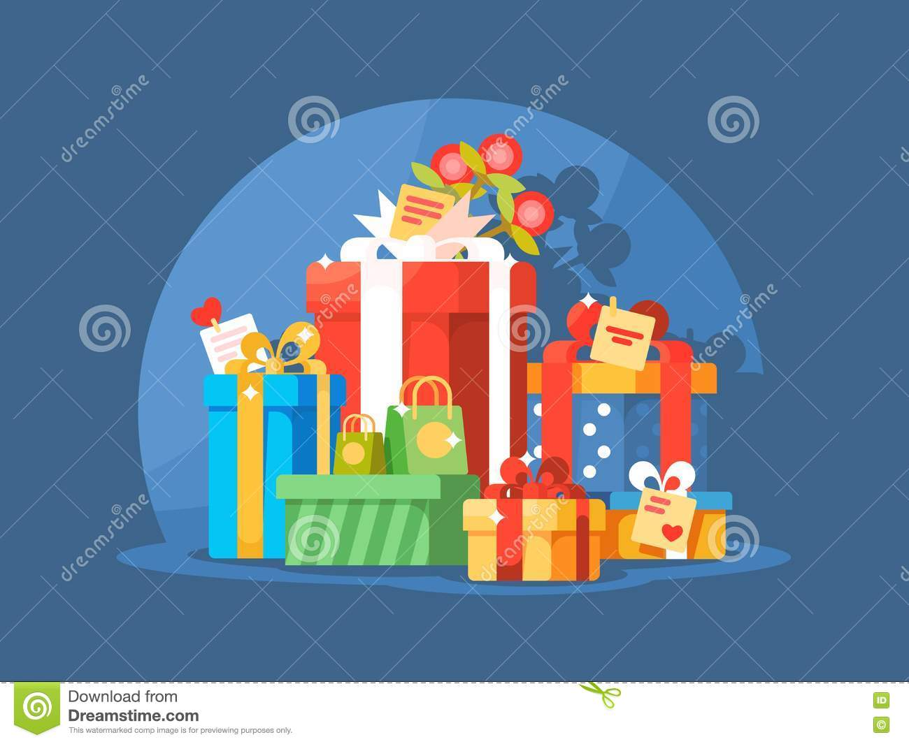 Heap of gift boxes