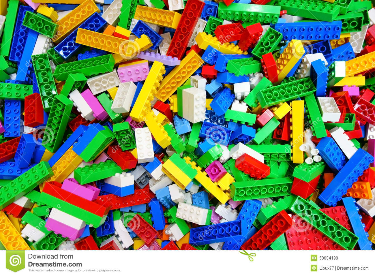 Download Heap Messy Toy Multicolor Lego Building Bricks Stock Photo - Image of cube, colorful: 53034198