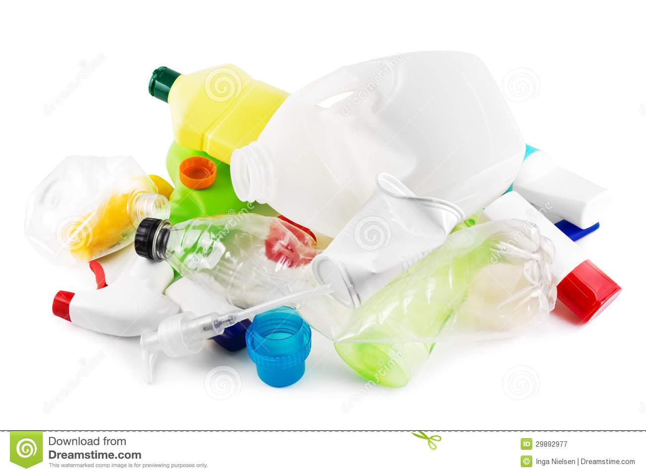 Plastic garbage stock image. Image of white, recycling ...