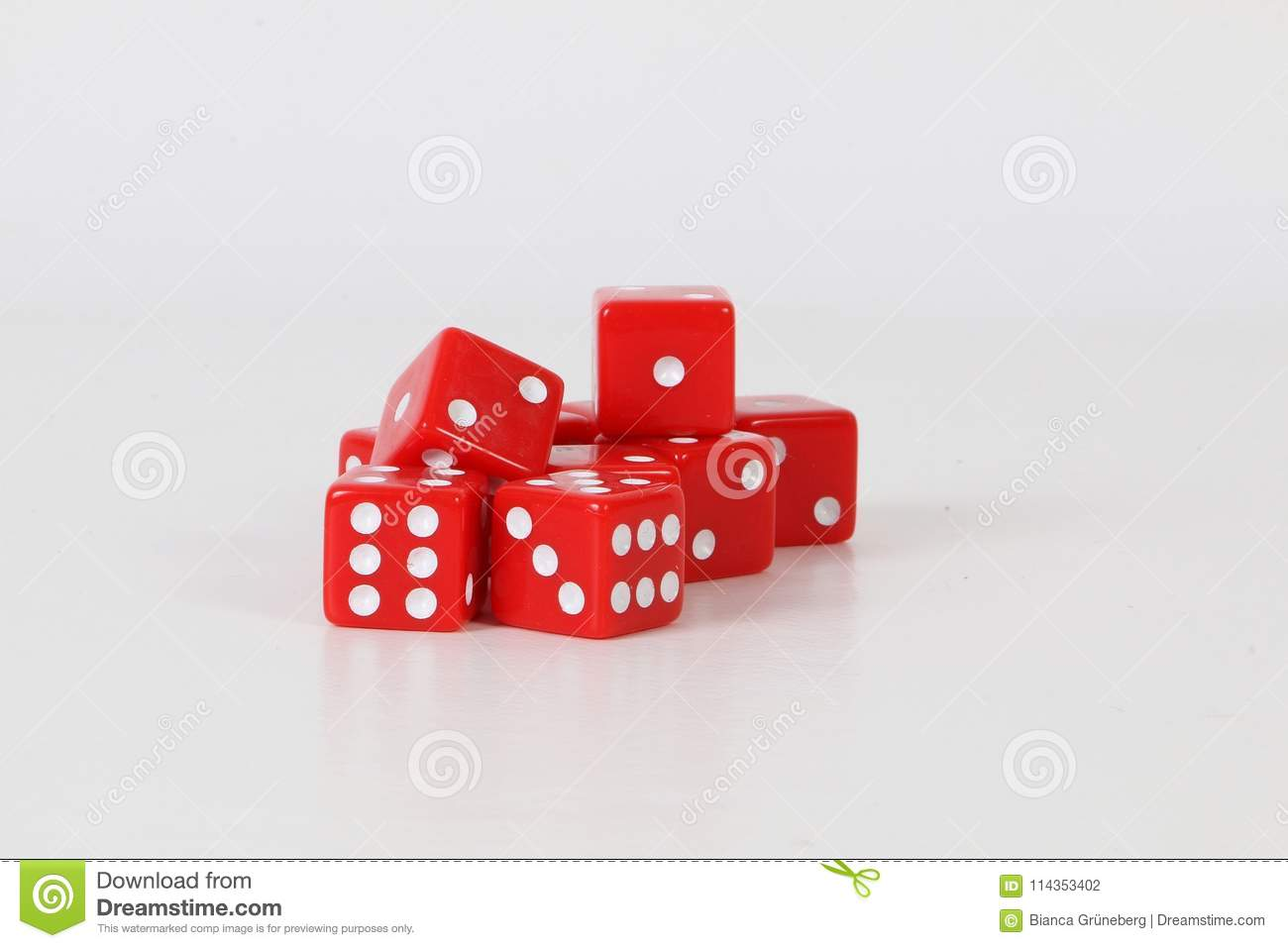 A heap of red dices