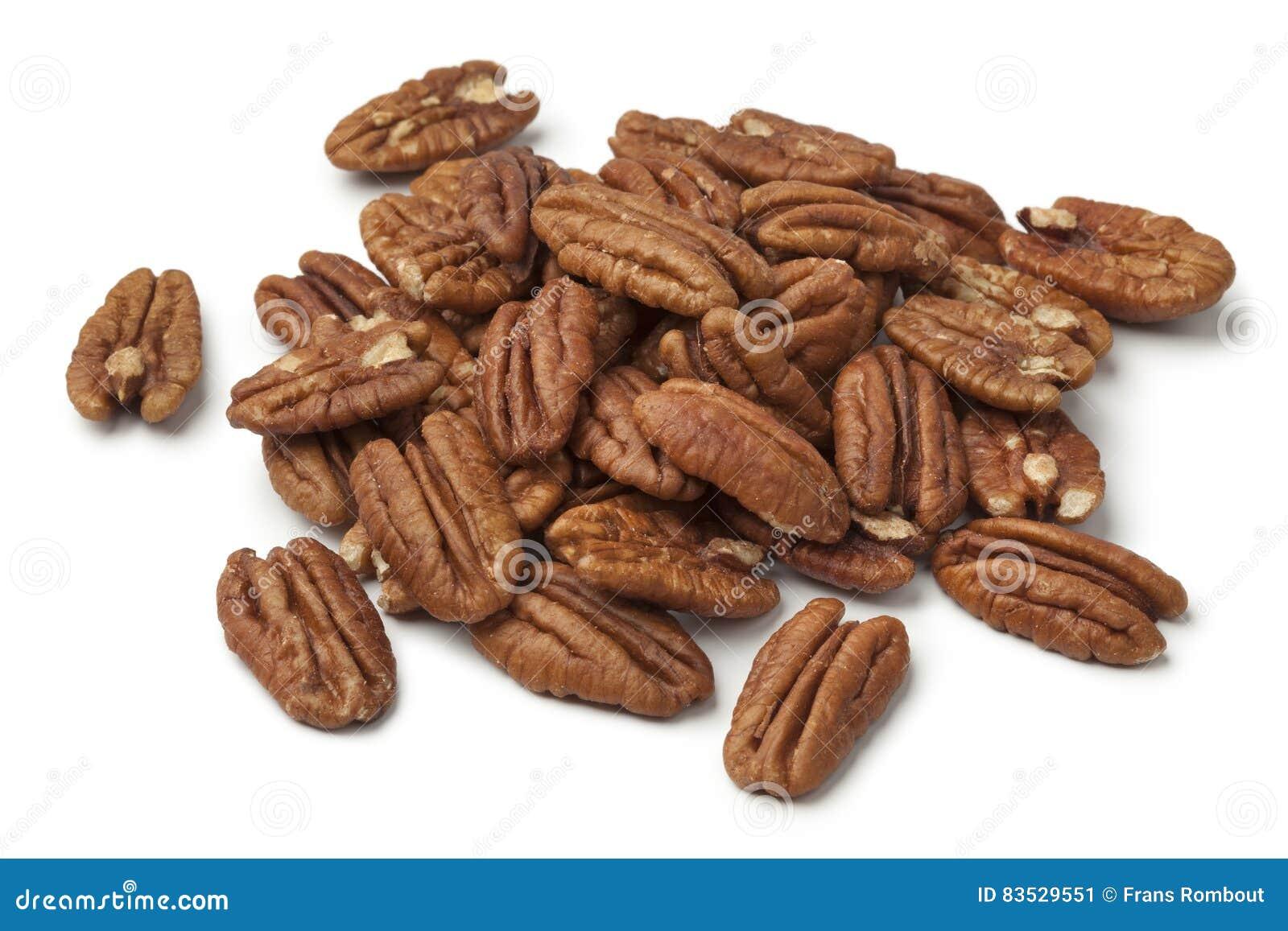 Heap of shelled pecan nuts