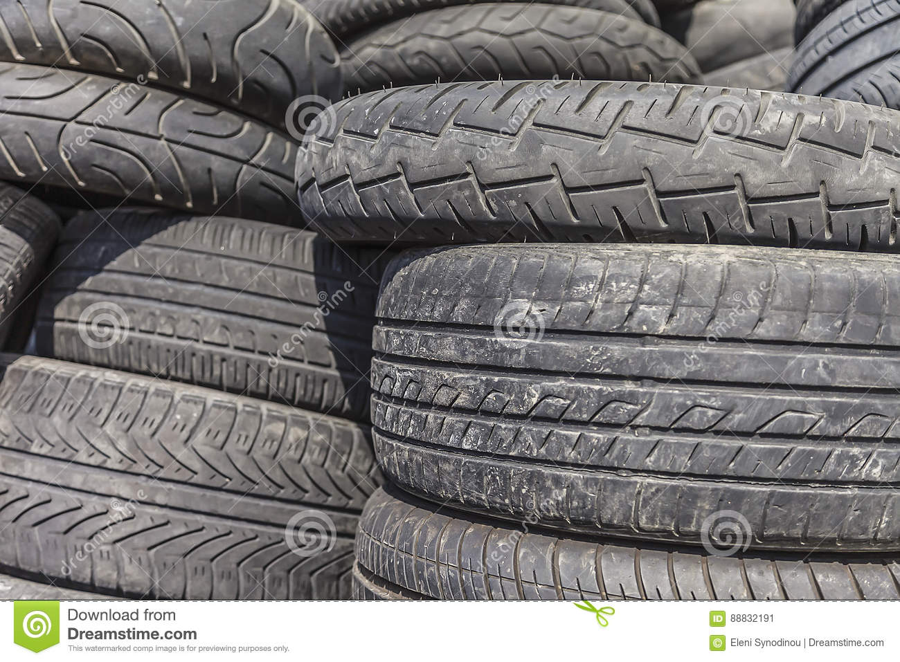 Heap of Tires stock image  Image of profile, disposal - 88832191