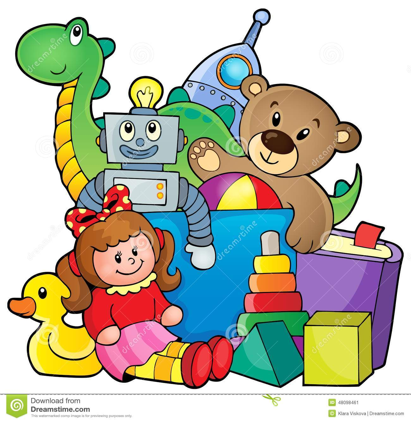 Line Art Cartoon Toys Vector : Heap of toys stock vector illustration rocket
