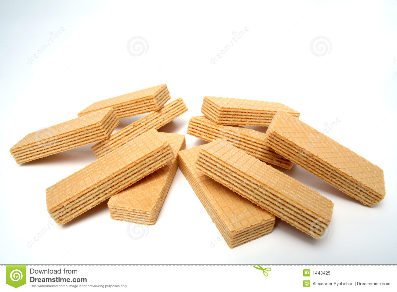 Heap Of Wafers With A Vanilla Cream Royalty Free Stock Photo - Image ...