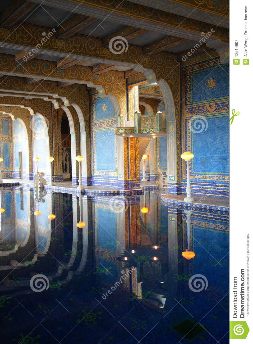 Hearst Castle Luxurious Pool Editorial Photography Image 12514607