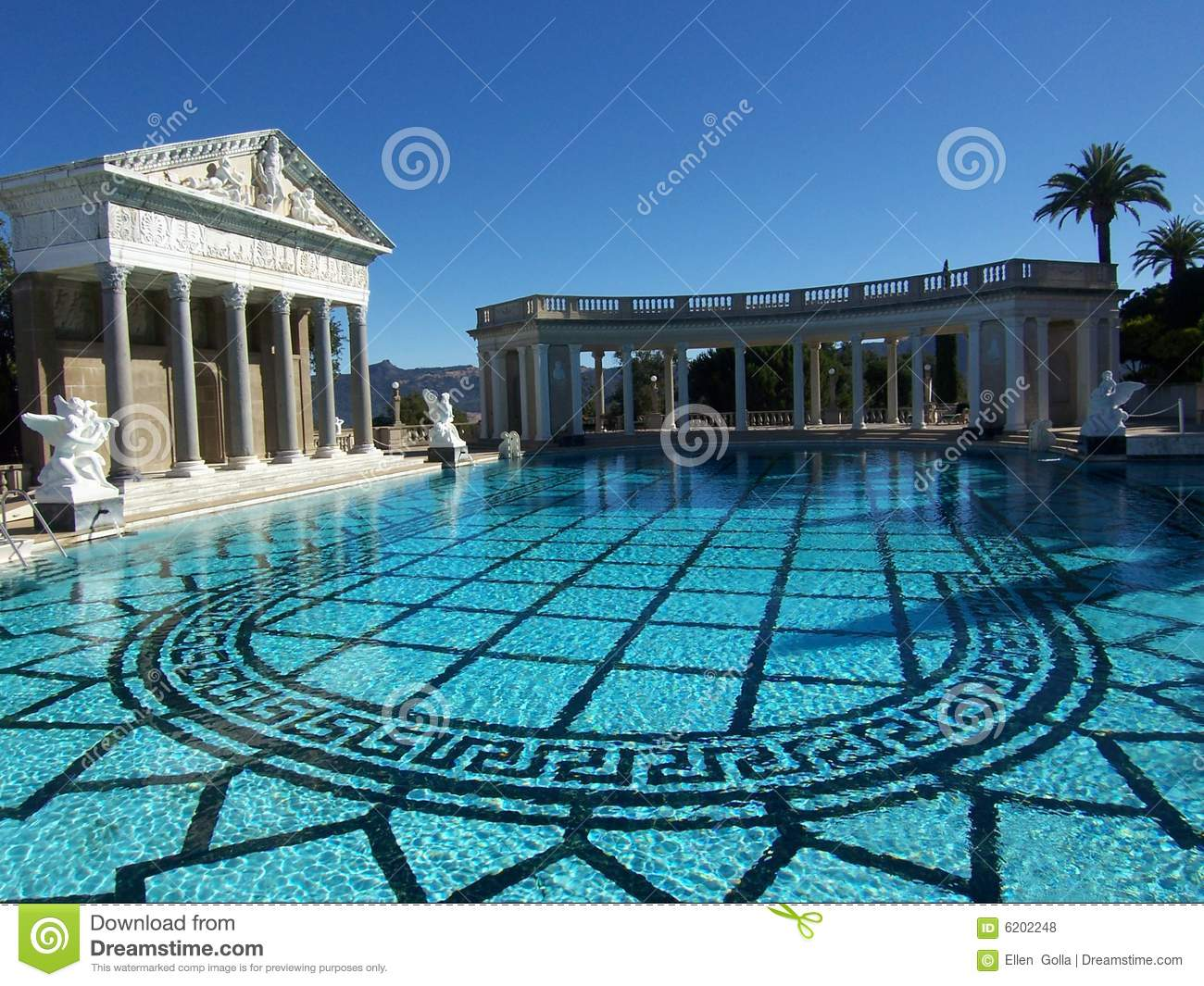 Hearst Castle Swimming Pool Editorial Stock Photo Image