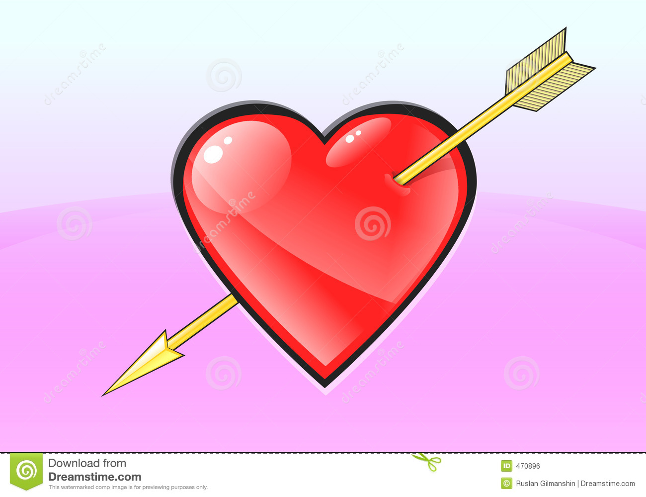 Download Heart stock illustration. Illustration of highlight, background - 470896