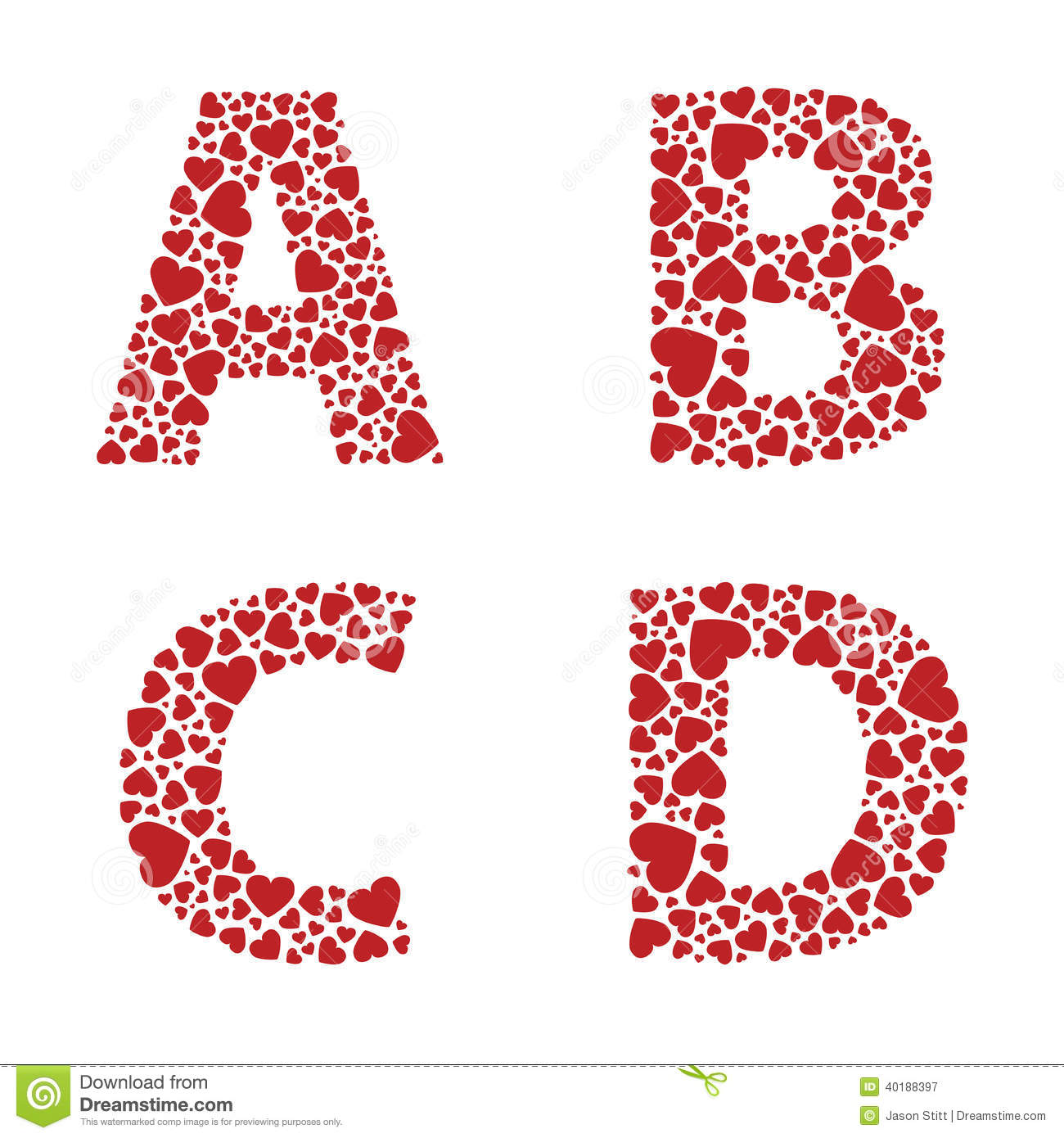 ABCD heart alph... V Alphabet Images In Heart
