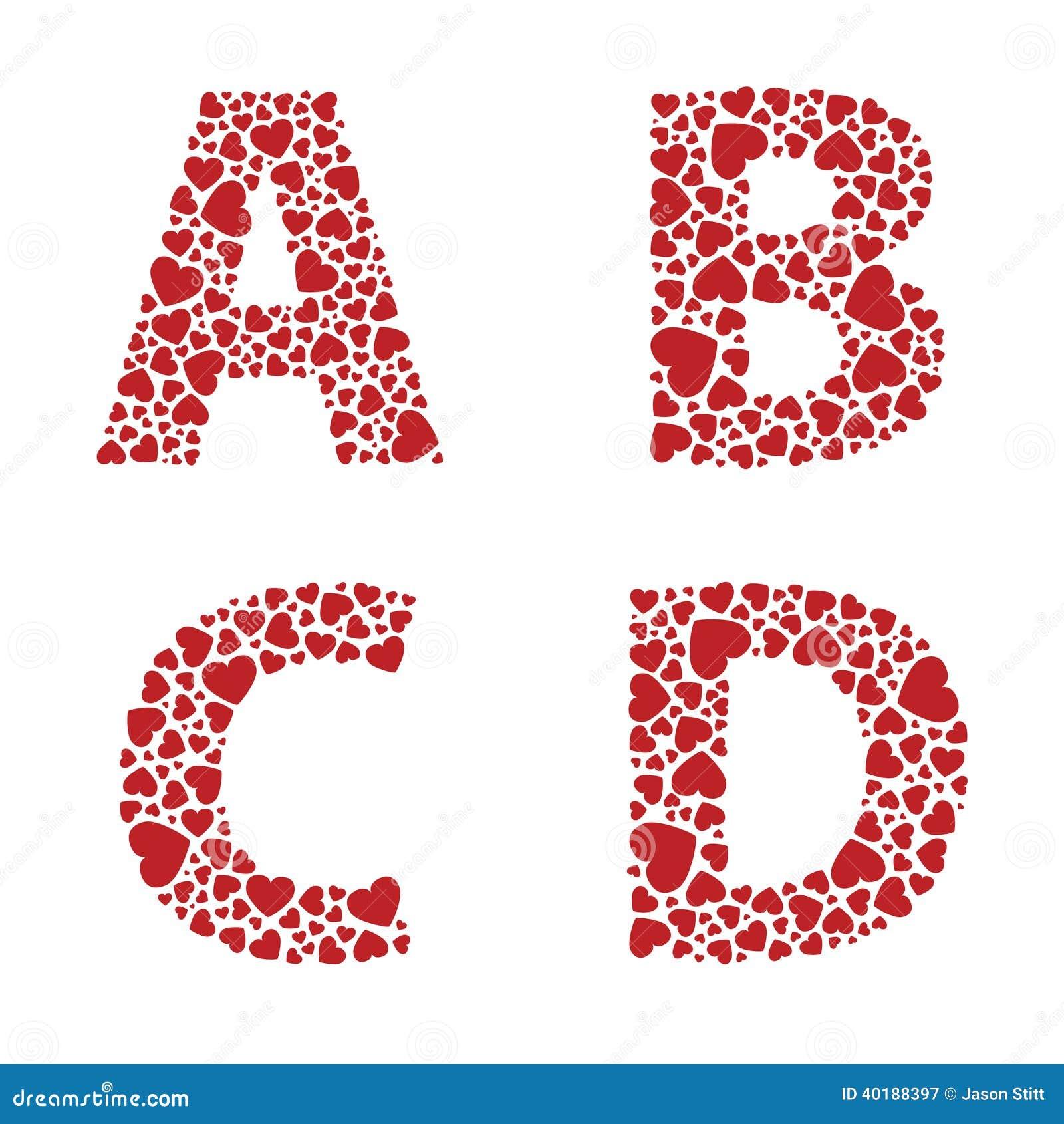 Heart Alphabet Font St...