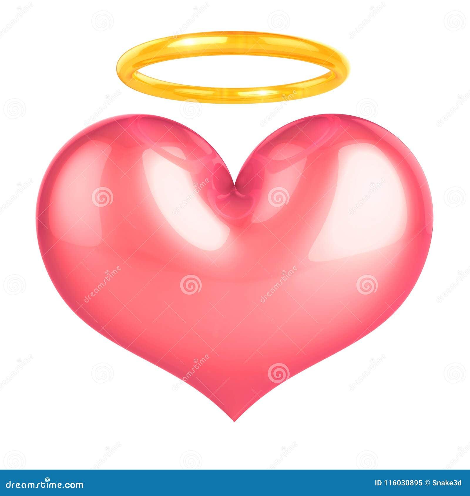 Heart Of Angel Pink Love Symbol Stock Illustration Illustration Of