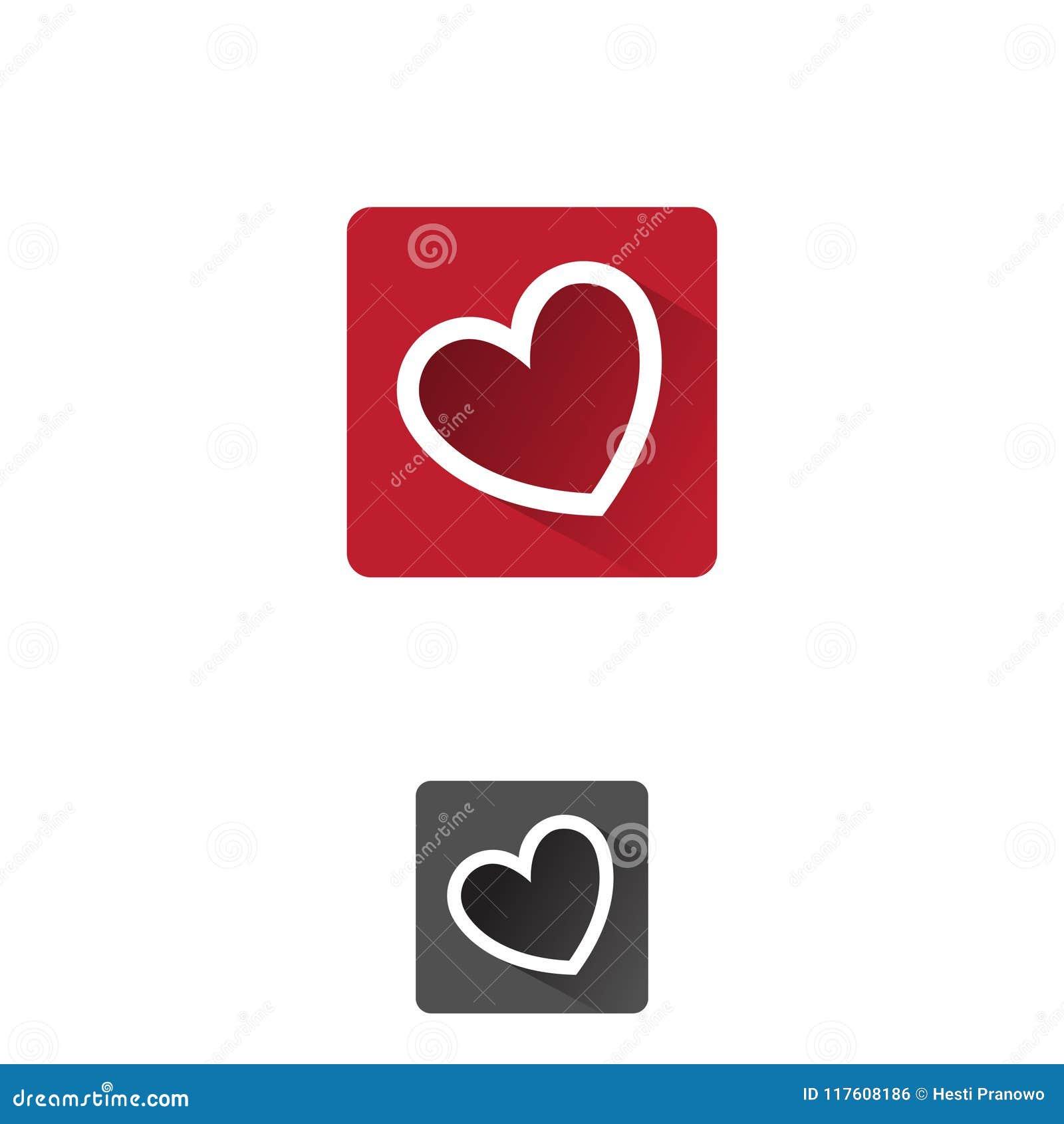 Heart App Symbol Of Love And Romantic Feelings Set Concept Design
