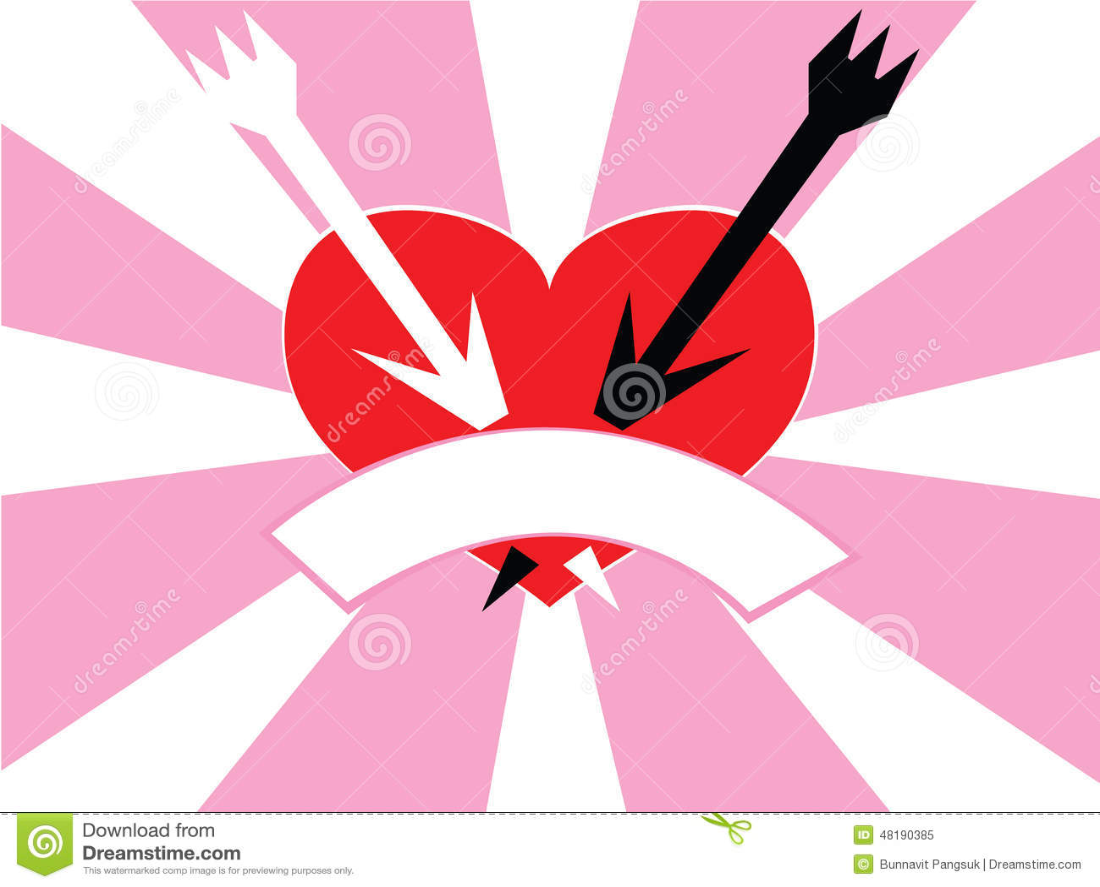 heart and arrow stock illustration image 48190385. Black Bedroom Furniture Sets. Home Design Ideas
