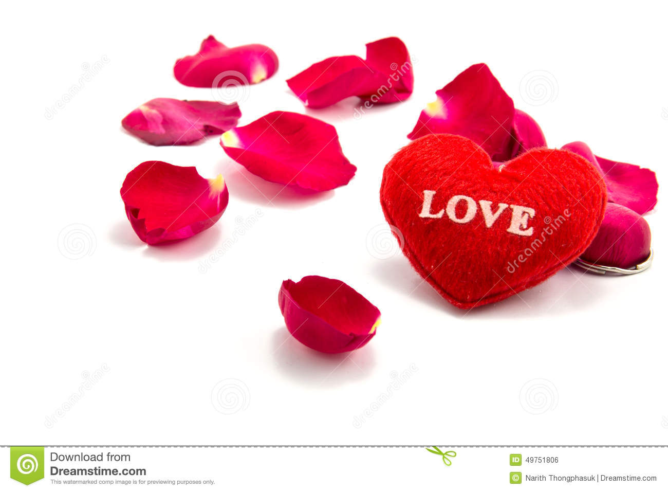 Heart As A Symbol Of Love With Rose Valentins Day Stock Photo