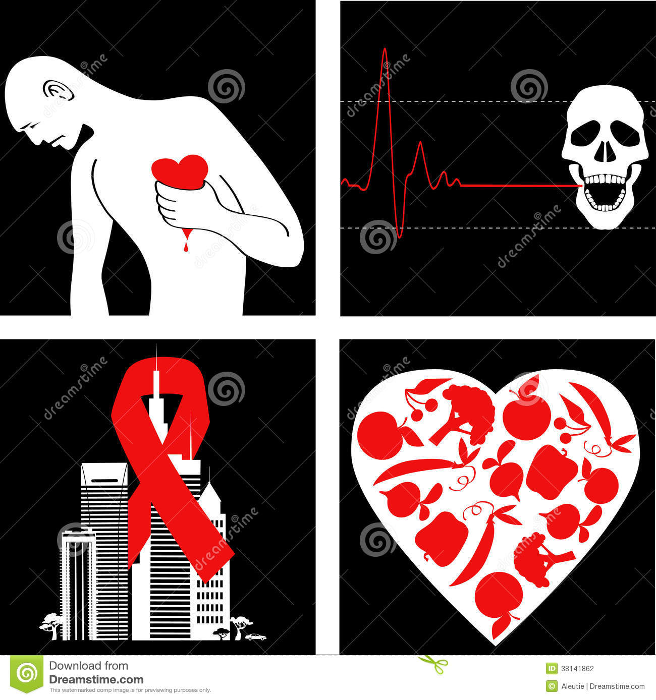 Heart Attack Prevention Stock Vector Illustration Of Medicine