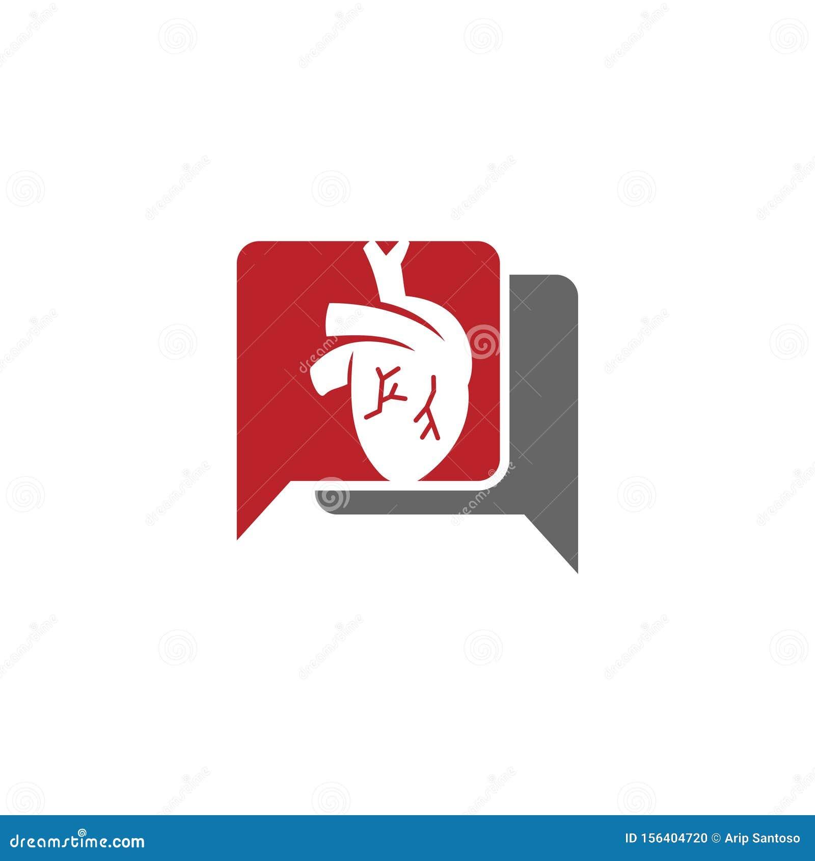 Heart attack risk vector logo icon design Illustration
