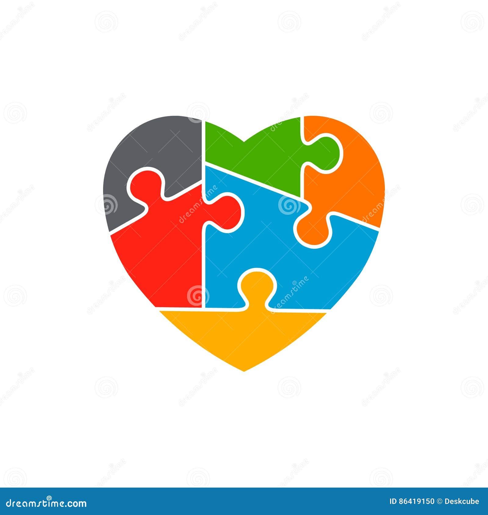 Heart autism awareness logo design stock vector illustration of heart autism awareness logo design biocorpaavc Gallery