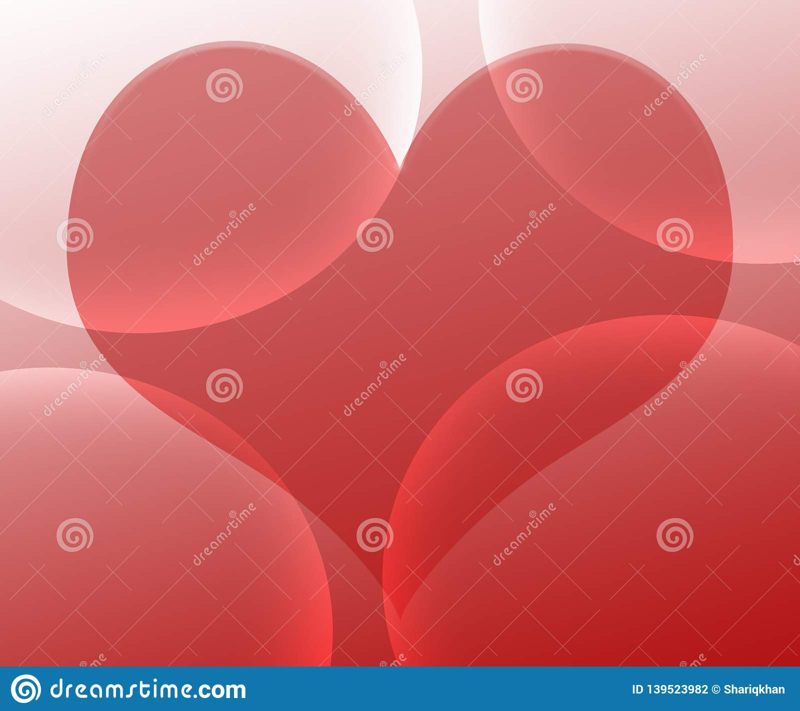 Heart Background With Abstract Red Magenta And White