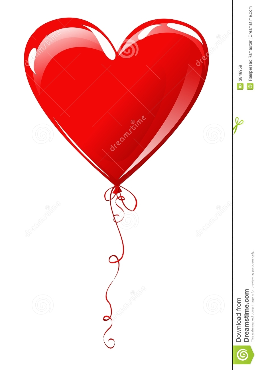 Red Heart Shape Balloon Decoration