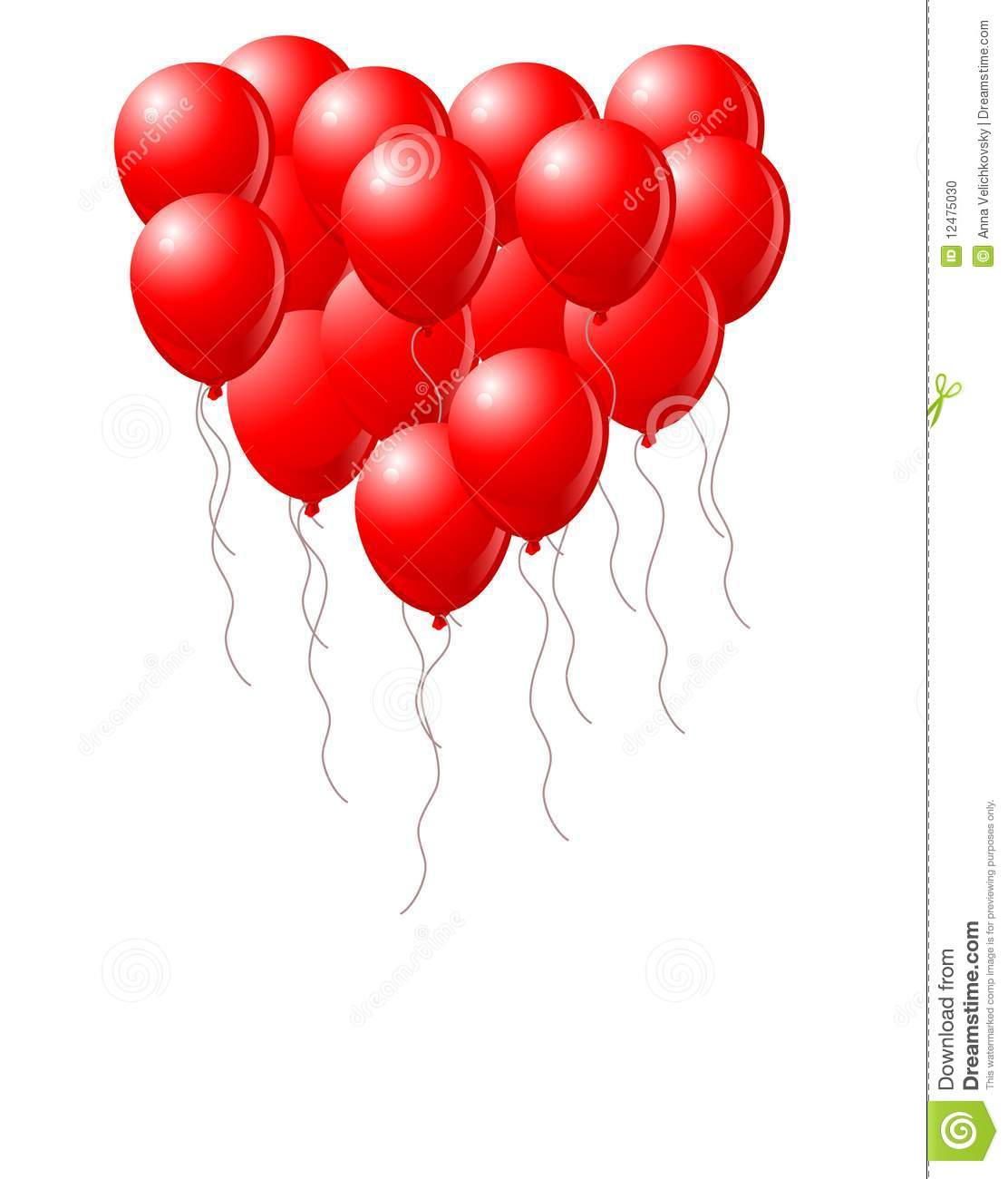 Heart Balloons Stock Photo - Image: 12475030
