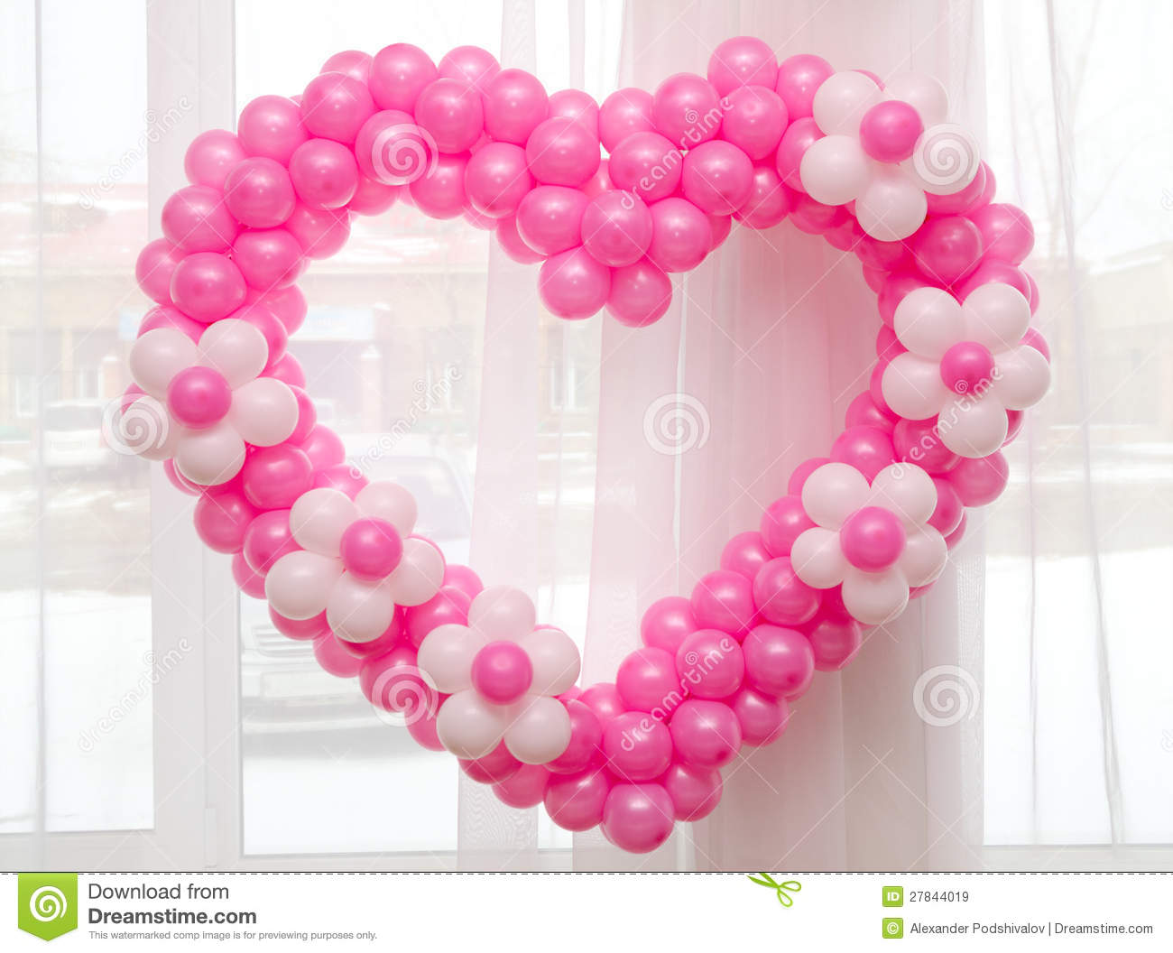 Heart Of Balloons Royalty Free Stock Images - Image: 27844019