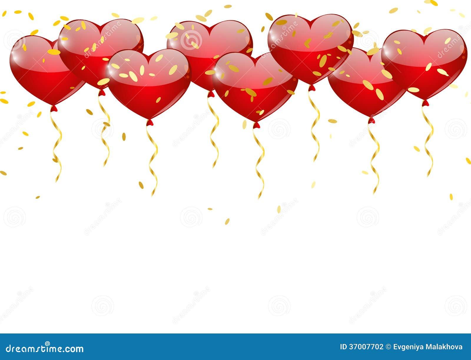 Heart balloons stock photography image 37007702 - How to make heart balloon ...