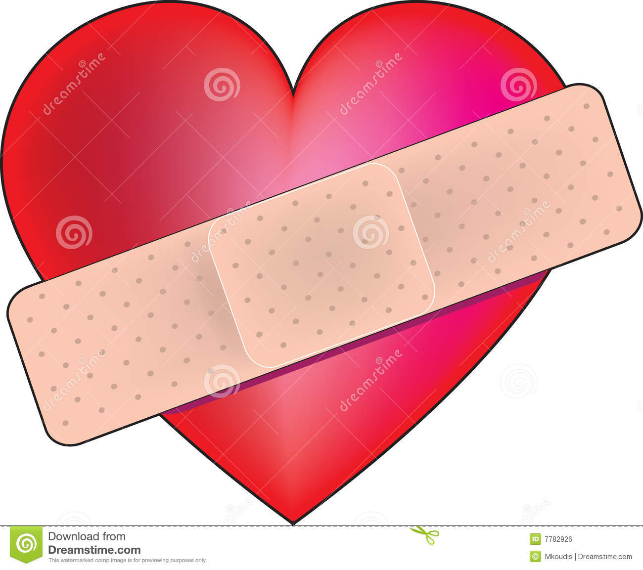Heart Bandaid Royalty Free Stock Image - Image: 7782926