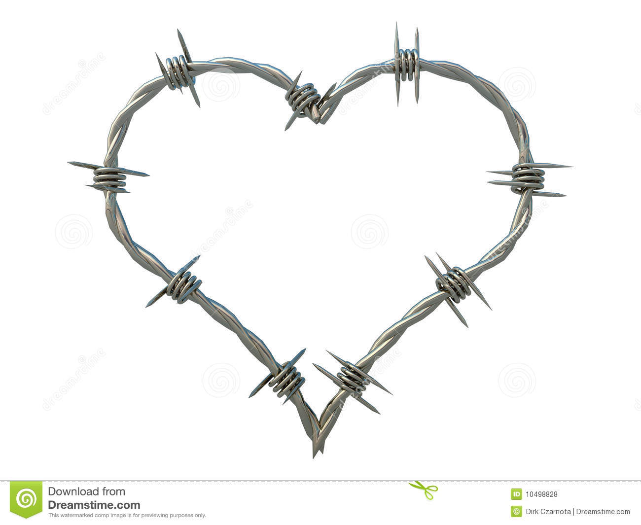 heart of barbed wire stock illustration  illustration of