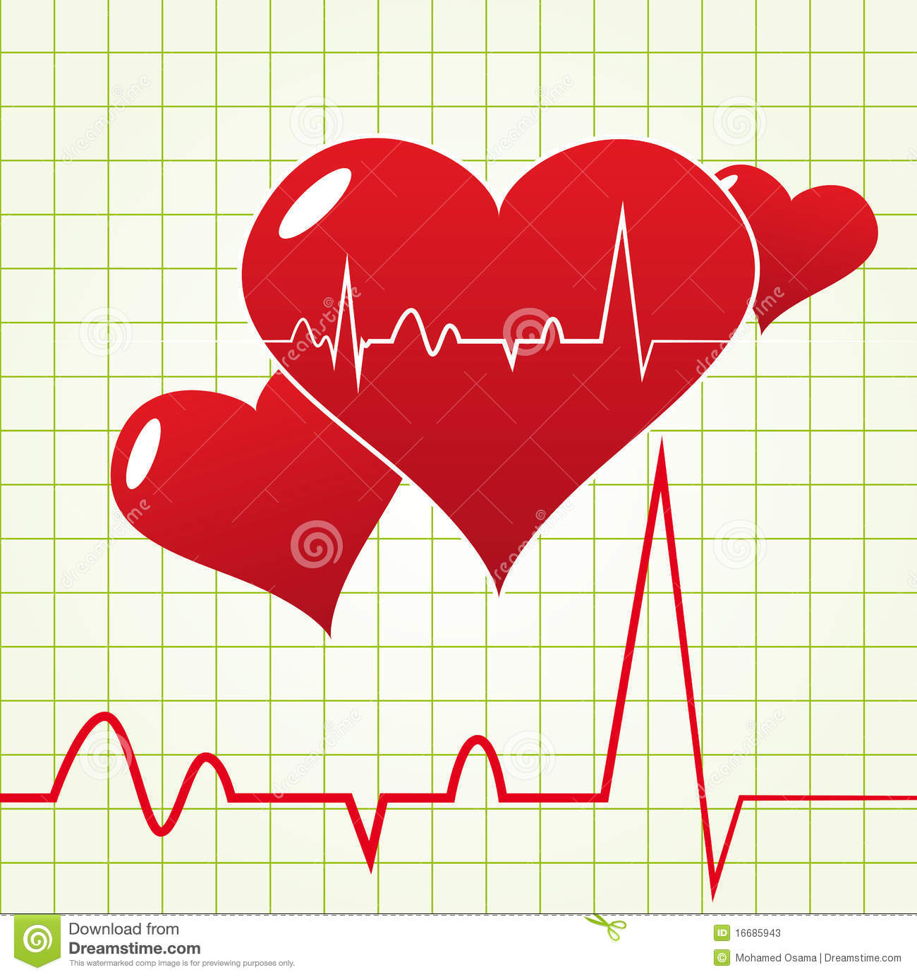 Heart Beat Diagram Stock Vector  Illustration Of Chart