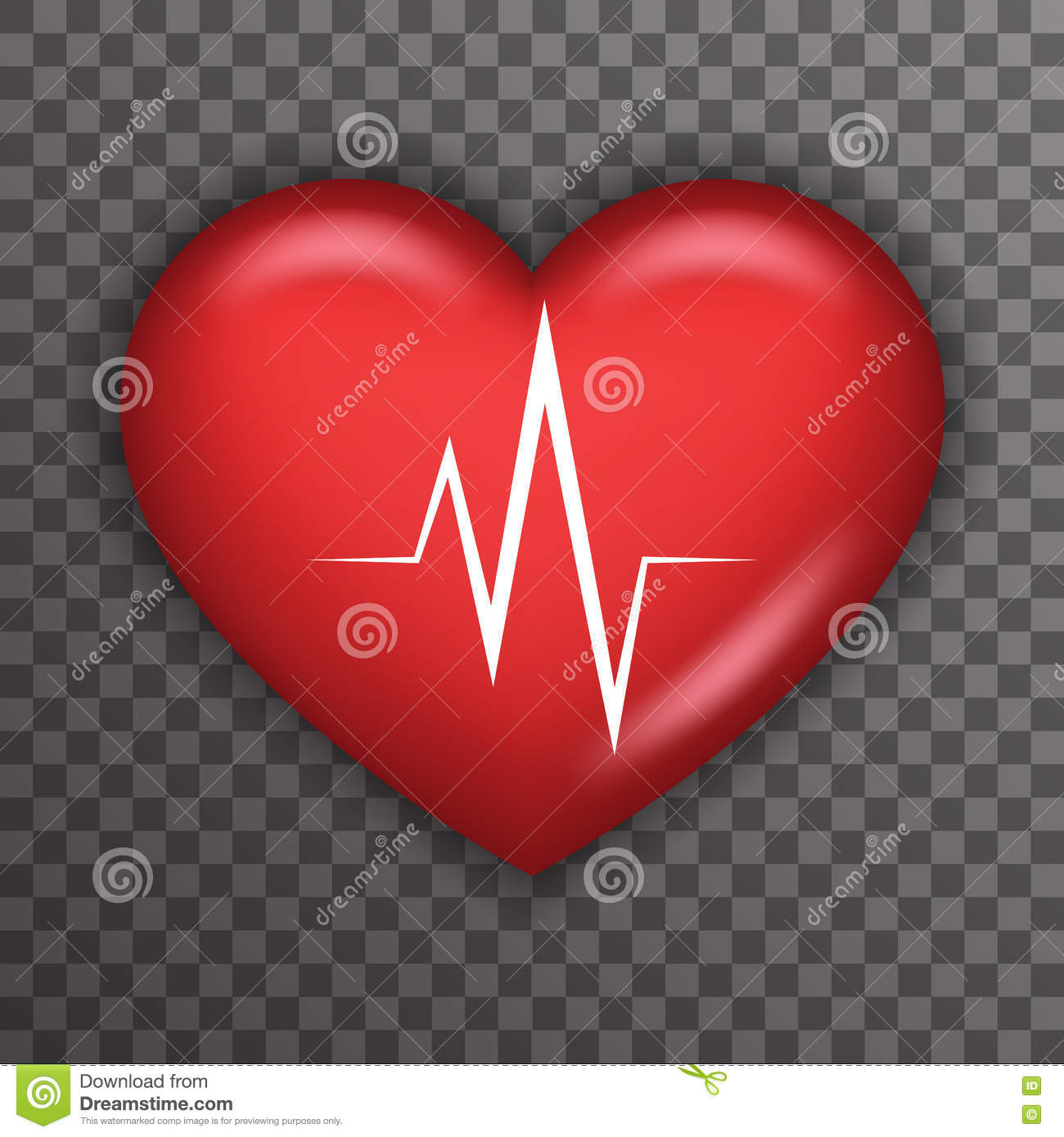 Heart Beat Rate Pulse Realistic 3d Healthcare Medical Care Symbol – Heart Rate Chart Template