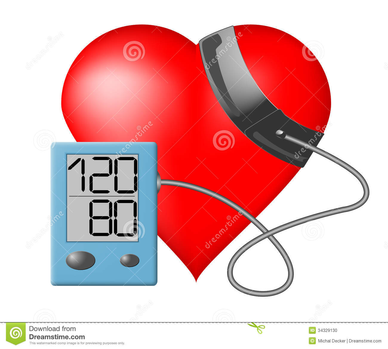 Heart - Blood Pressure Monitor Stock Photo - Image: 34329130