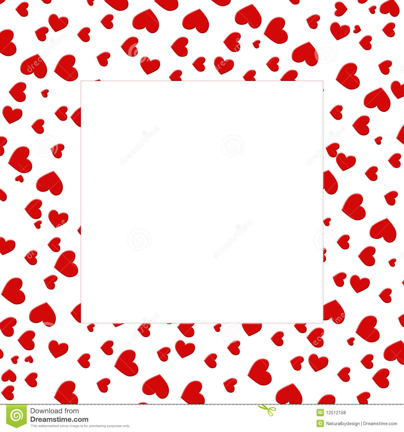 Heart Border Royalty Free Stock Photos - Image: 12512158