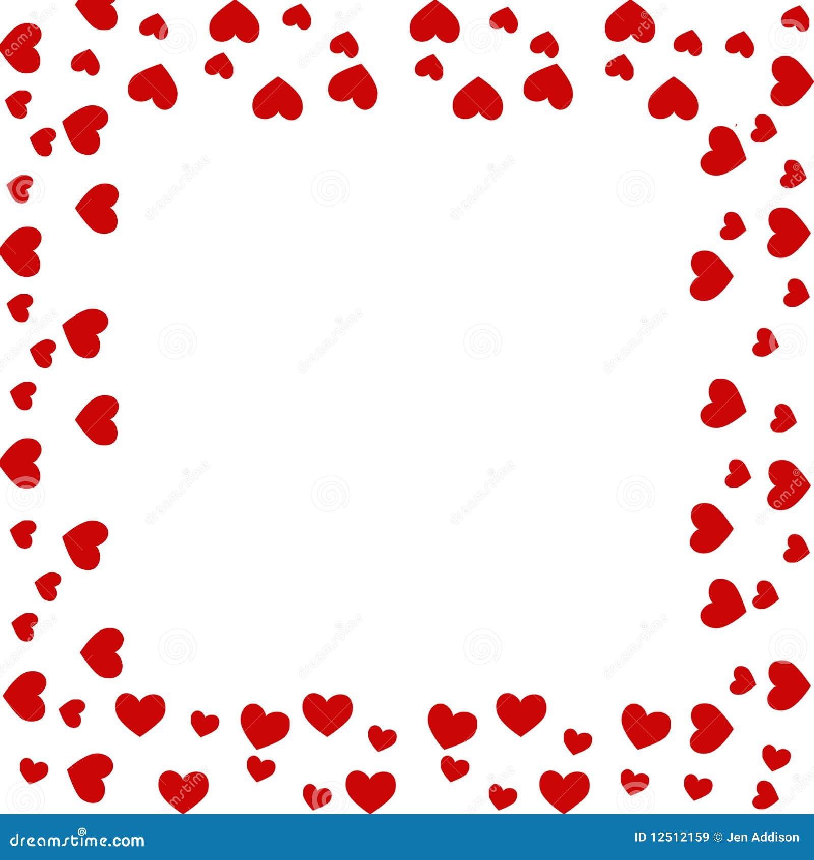 free heart border  Heart border stock illustration. Illustration of pink - 12512159
