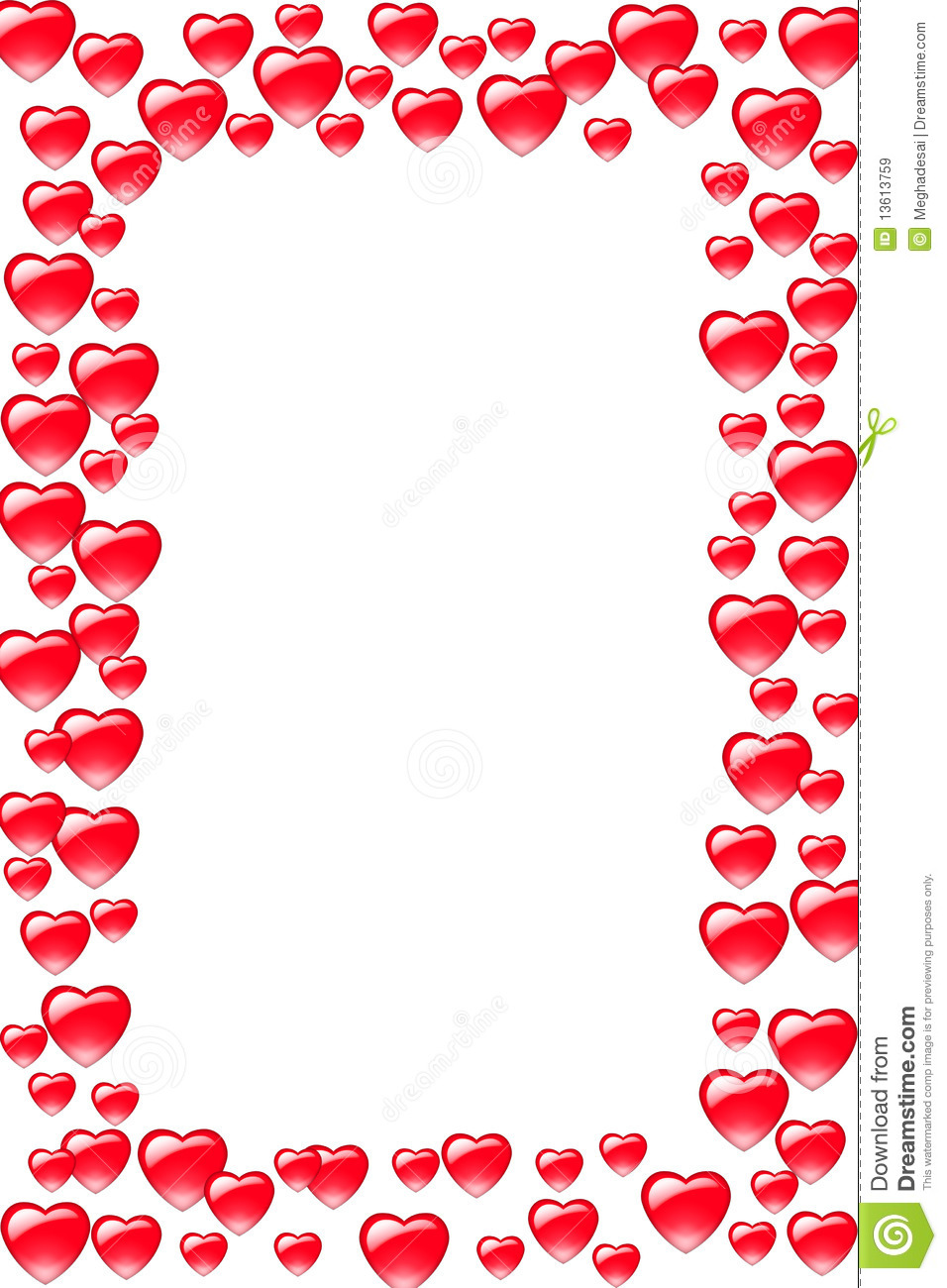 Heart Border Royalty Free Stock Images - Image: 13613759