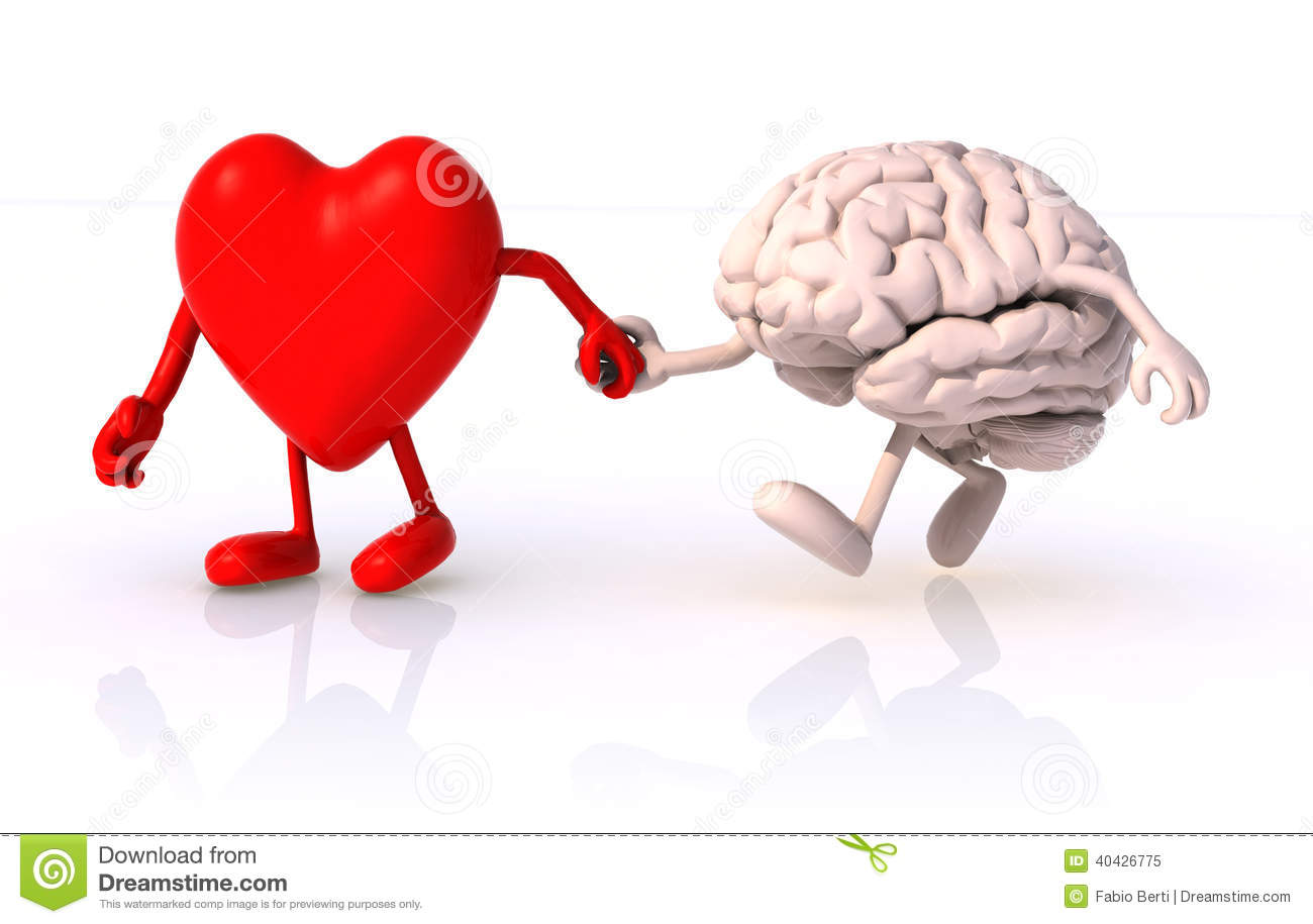 Heart and brain hand in hand
