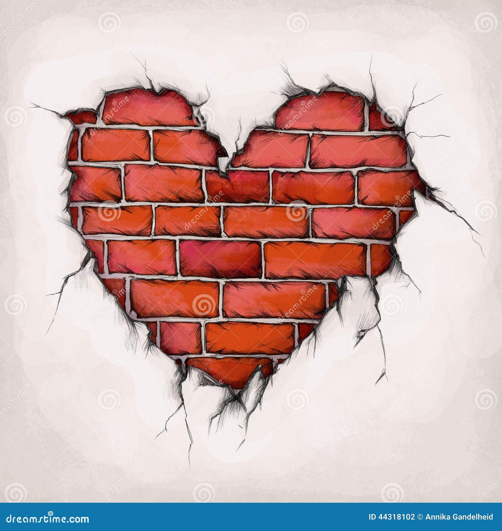 Heart Of Bricks Stock Illustration Image 44318102