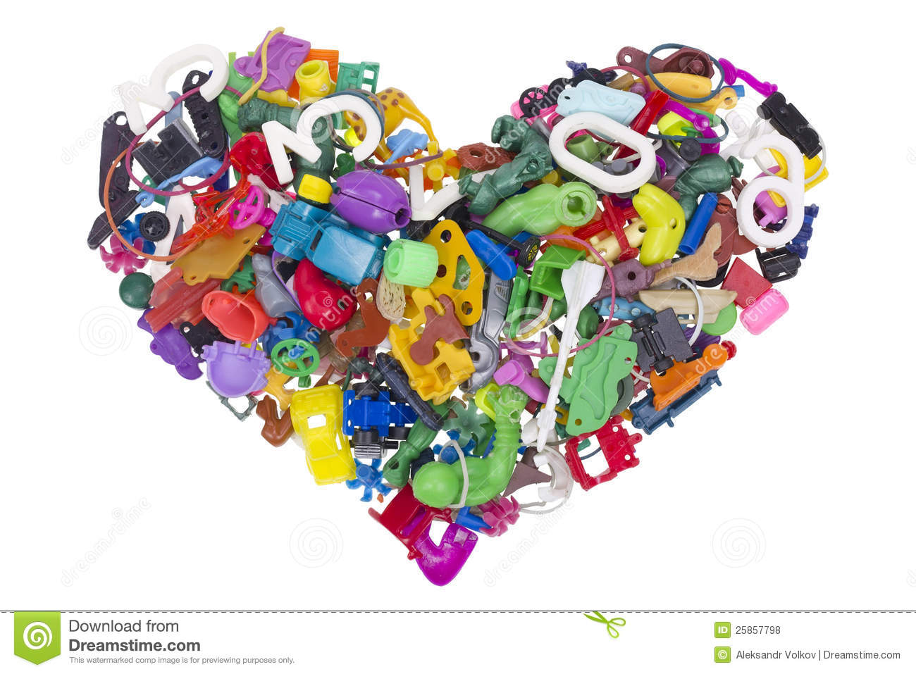 Toy Names A Z : Heart from broken no name toys stock photo image