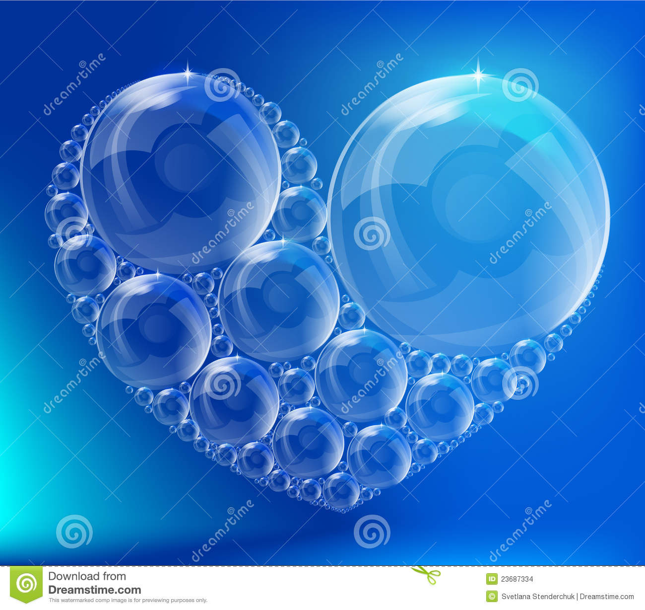 The Heart Of The Bubbles Stock Images - Image: 23687334