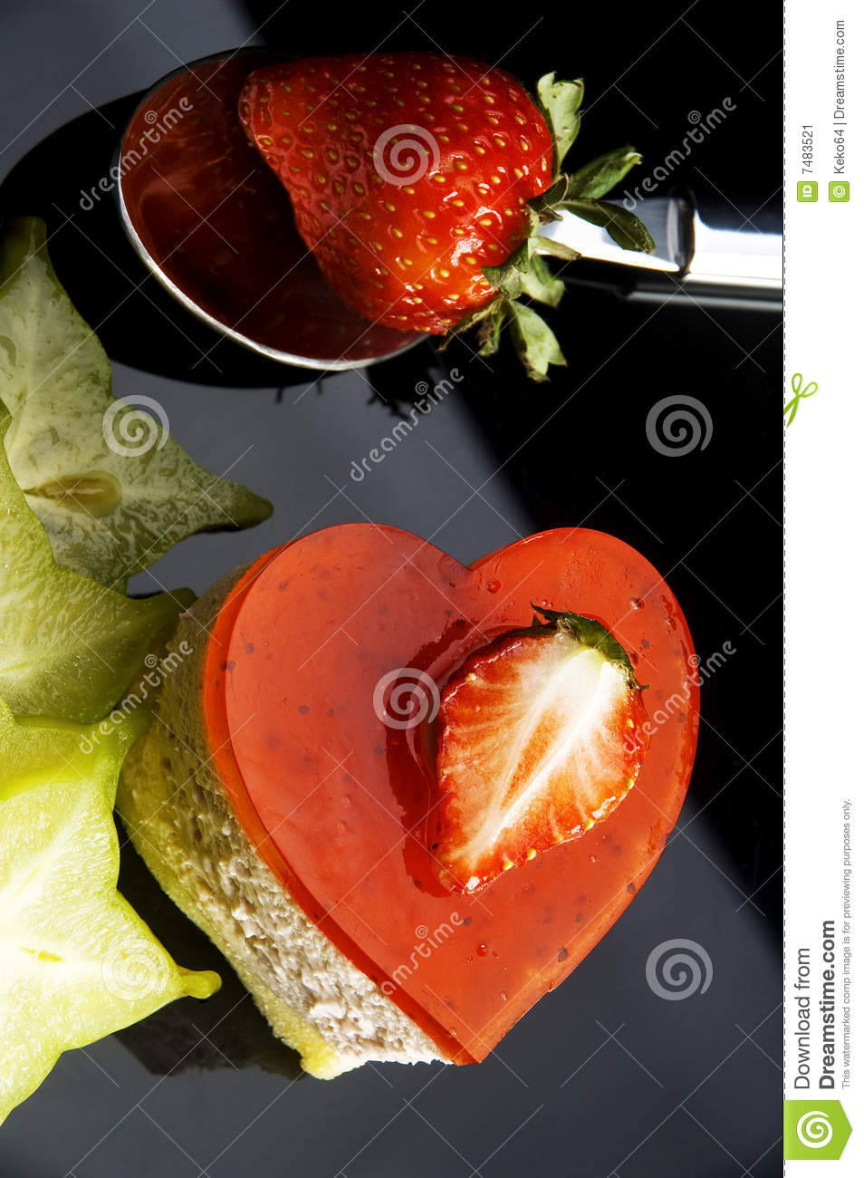 Fruit Shaped Cake Decoration : Heart Cake Stock Image - Image: 7483521