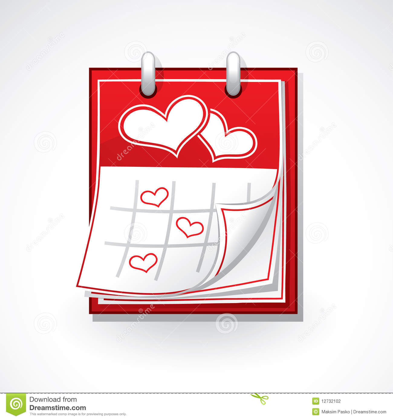 heart calendar stock photography image 12732102