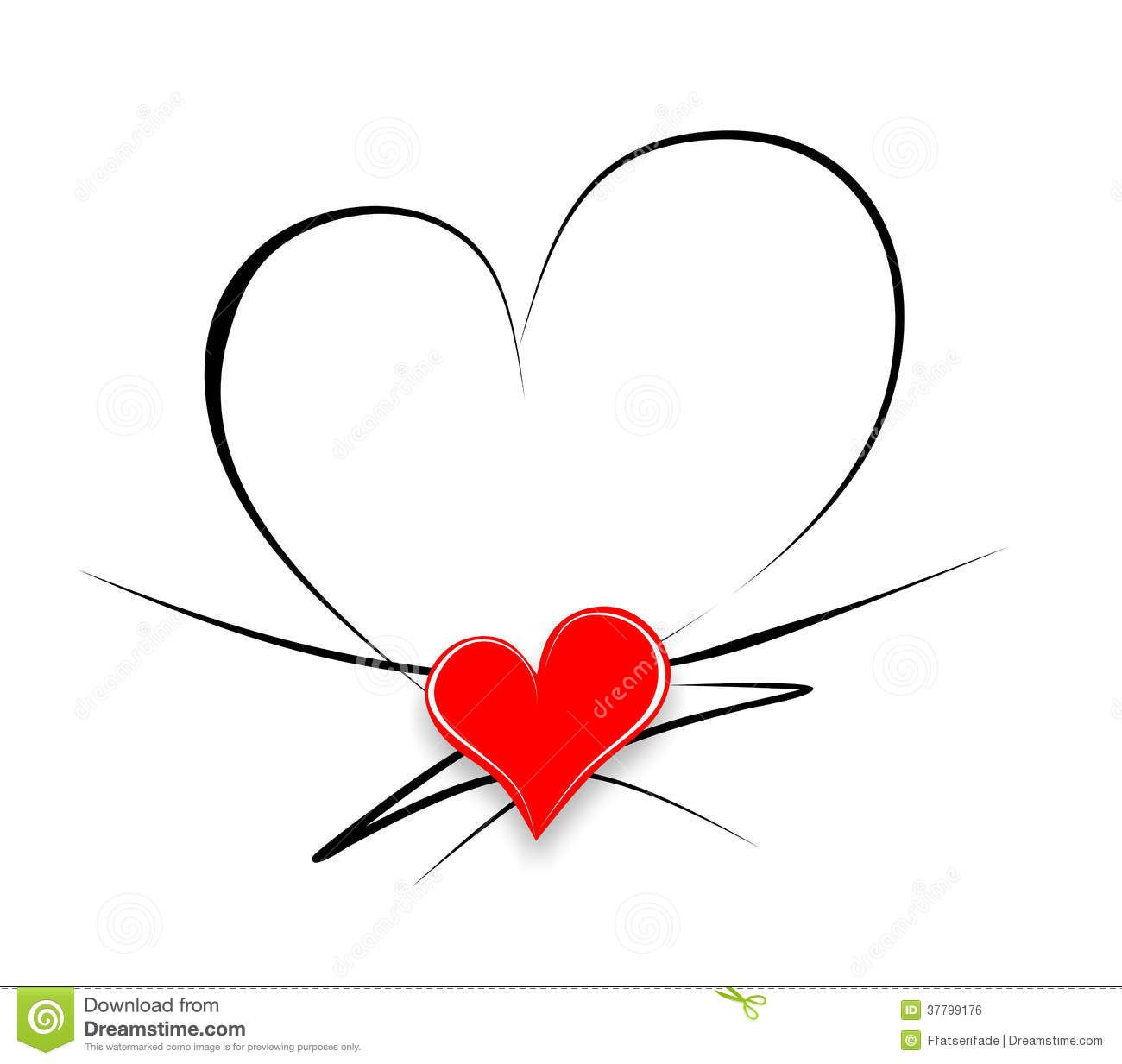 Heart Calligraphy Royalty Free Stock Image Image 37799176