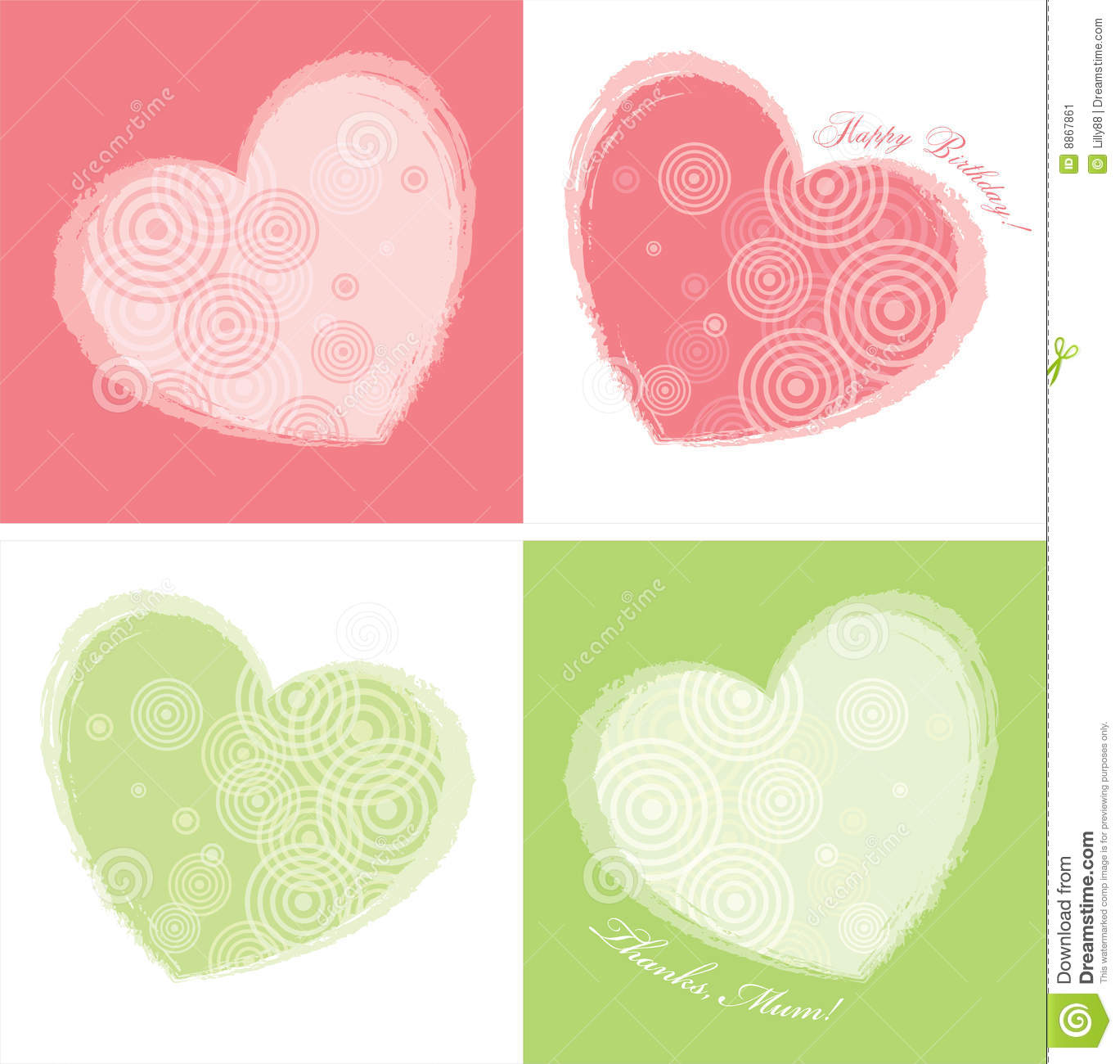 Heart Card Design(two colours)