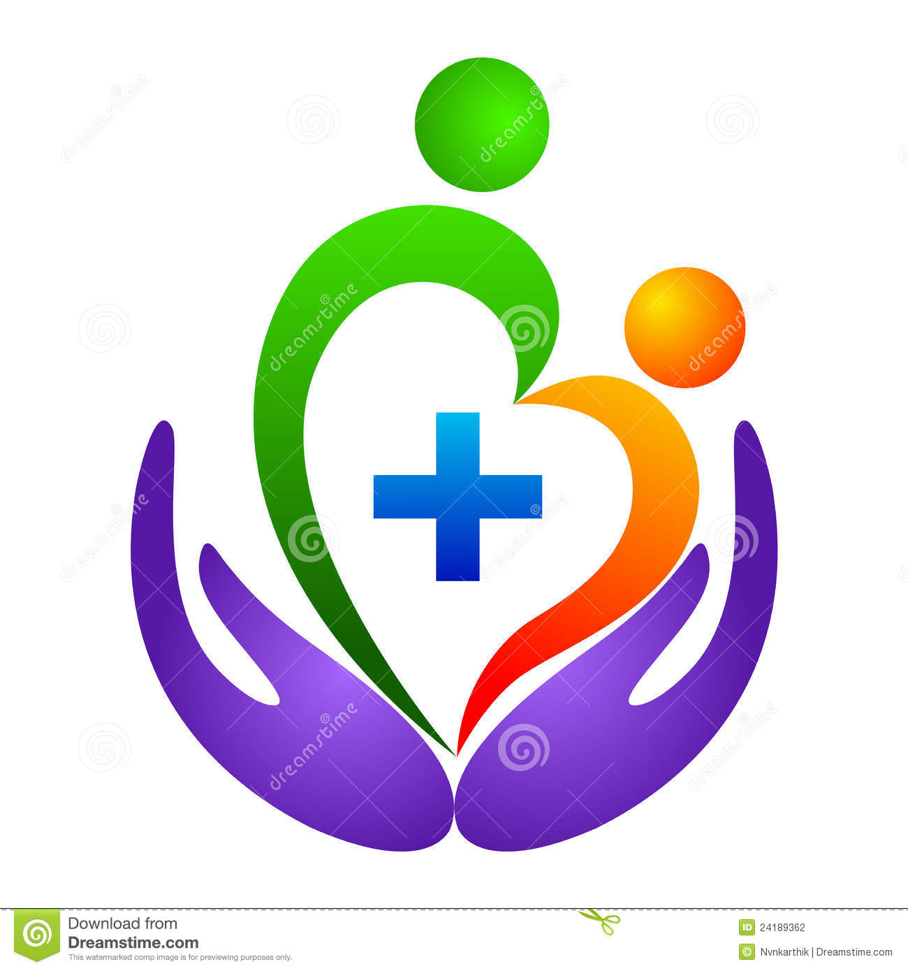 heart care logo stock photography image 24189362