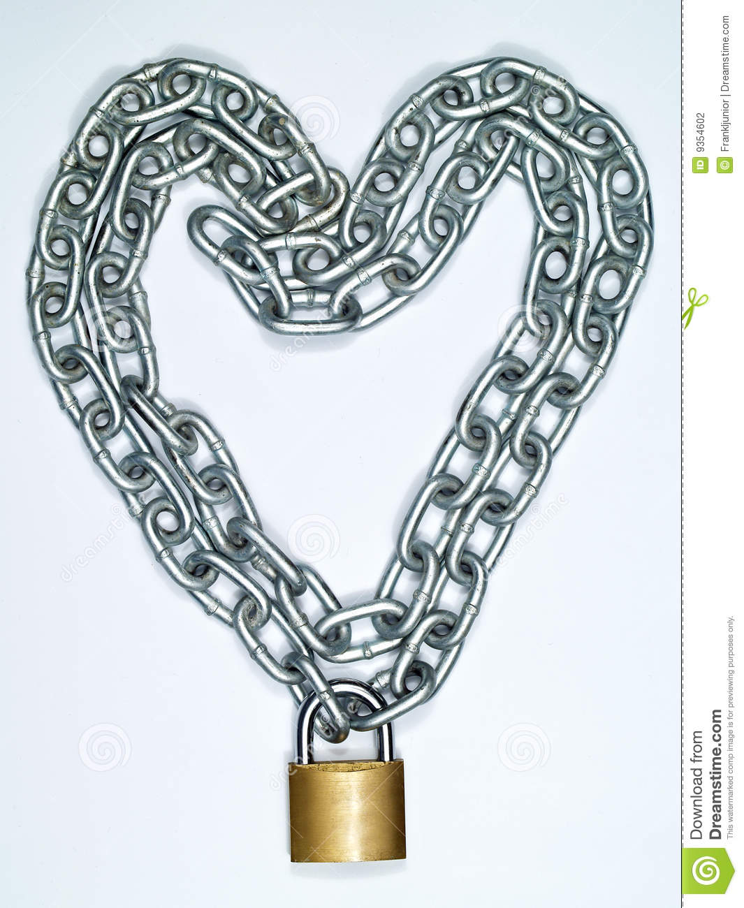 Heart Chain And Lock Stock Photography - Image: 9354602