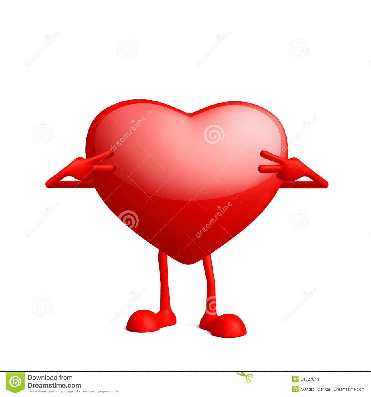 Heart Character With Win Pose Stock Illustration Illustration Of
